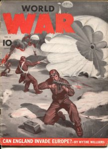 World War #5 1941-Dell-war pulp-Hitler Youth-Stalin-Mussolini-G/VG