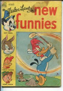 New Funnies #152 1949-Dell-golf cover & story-Woody Woodpecker-Andy Panda-FR