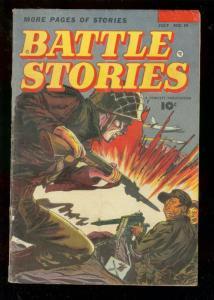 BATTLE STORIES #10 1953-FAWCETT-BILL BATTLE STORY-RARE G-