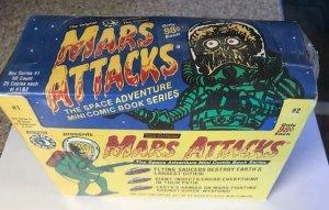 MARS ATTACKS FACTORY SEALED BOX -SERIES 1 &2 MINI COMIC BOOKS-25 EACH-SCARCE!!
