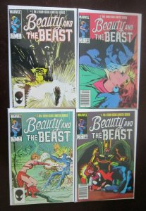 Beauty and the Beast comic set #1 to #4 all 4 different books 6.0 FN (1985)