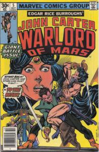 John Carter, Warlord of Mars #5 FN; Marvel | save on shipping - details inside