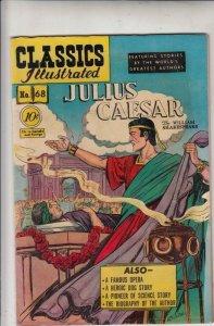 Classics Illustrated #68 Vol 1  Julius Ceaser  strict   FN-  6.0