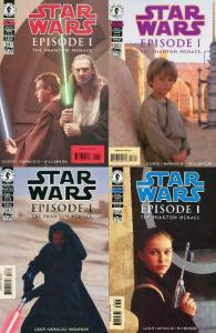 STAR WARS EPISODE 1 (1999 DH) 1-4 Photo Covers Complete