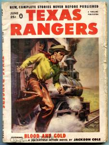 Texas Rangers Pulp June 1956- Jim Hattfield- Western G/VG