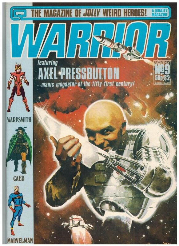 WARRIOR (1982 QUALITY) 9 F-VF Jan. 1983 ALAN MOORE+++++
