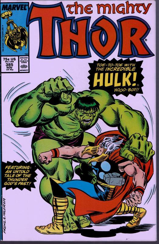 Thor #385 - 9.0 or Better - Hulk / Thor Fight