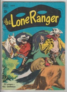 Lone Ranger # 31 Strict VG+ Affordable-Grade Cover Painted Young Hawk story