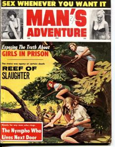 Man's Adventure 2/1964-Stanley-Girls in Prison-WWII-Pulp thrills!