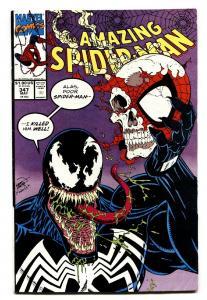 AMAZING SPIDER-MAN #347 comic book-VENOM cover-Marvel