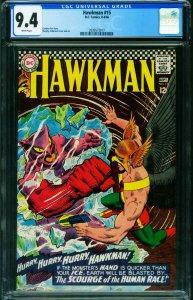 HAWKMAN #15 CGC 9.4 1966-SILVER AGE DC-2039573017
