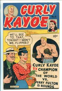 CURLY KAYOE #6 1947-UNITED FEATURES-SAM LEFF-BOXING COMICS-fn/vf