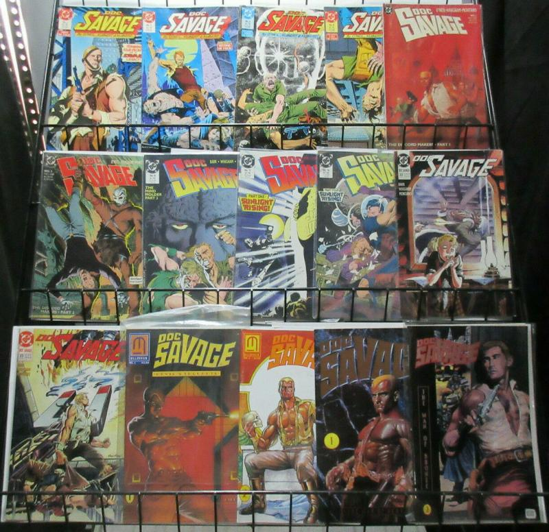 Doc Savage Copper Age Lot of 15Diff DC to Conde Nast Man of Bronze!