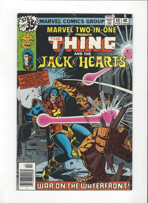 Marvel Two in One #48 Thing / Jack of Hearts FN