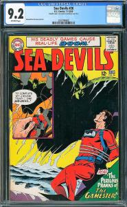 Sea Devils #26 (DC, 1965) CGC 9.2- DOUBLE COVER