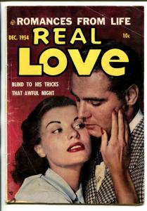 REAL LOVE #65 1954-SPICY GOOD GIRL ART POSES-PHOTO COVER-vg