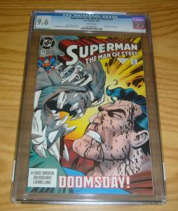 Superman: the Man of Steel #19 CGC 9.6 early doomsday cover - dc comics 1993 1st