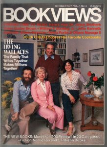 Bookviews #2 10/1977-Irving Wallace Family-Julia Child-200+ reviews-NM