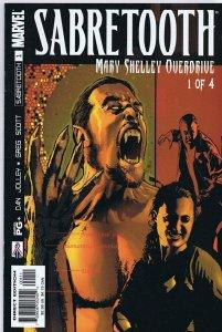 Sabretooth Mary Shelley Overdrive #1 ORIGINAL Vintage 2002 Marvel Comics