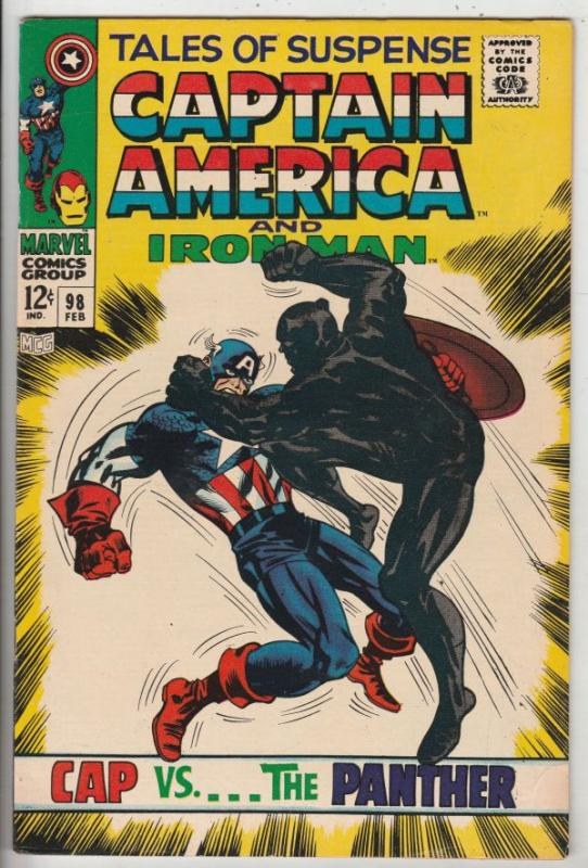 Tales of Suspense #98 (Feb-68) VF/NM High-Grade Iron Man, Captain America