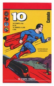 Canada Super-heroes stamp booklet, Mint, unopened