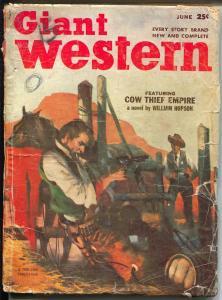 Giant Western 6/1953-Thrilling-Gerald Mc Cann-violent western stories-G