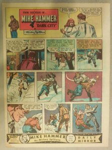 Mike Hammer Sunday Page by Mickey Spillane from 2/21/1954 Tabloid Page Size!