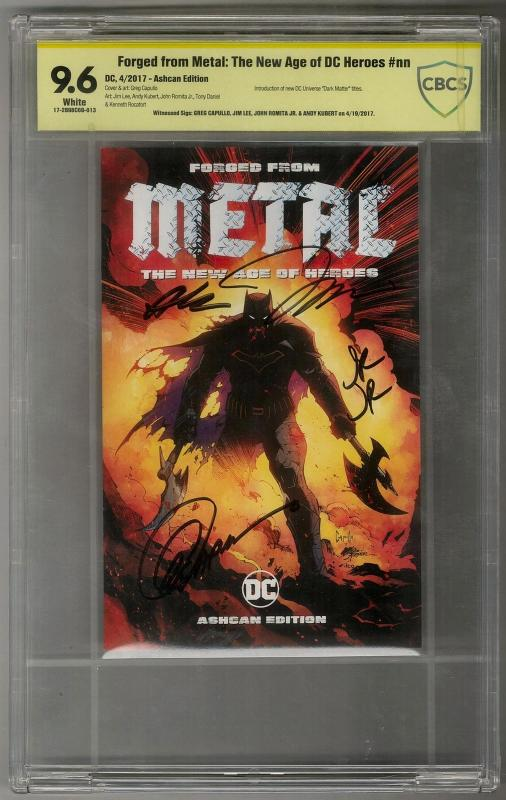 Forged from Metal: The New Age of DC Heroes Signed 4X Capullo,Lee,Romita,Kubert
