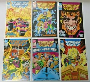 Forever People set #1 to #6 2nd Series all 6 different books 8.0 VF (1988)