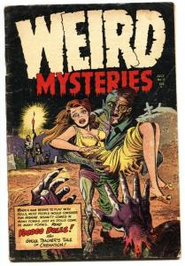 Weird Mysteries #11 Twisted weird menace headlight cover-Pre-code horror!