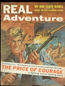 REAL ADVENTURE MARCH 1958-1000 CAGED WOMEN-WESTERN G/VG