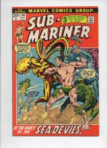 SUB-MARINER #54, VF, Everett, Dragon Lord, Marvel, 1968 1972, more in store