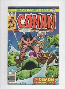 CONAN the BARBARIAN #69 70 71 FN Buscema, Chan, Howard, 1970 1976 1977, Belit