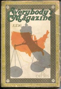Everybody's Magazine 6/1913-Booth Tarkington-Rex Beach-Ed Hornung-VG