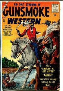 Gunsmoke Western #43 1957-Atlas-Kid Colt-John Severin-Angelo Torres-VG+
