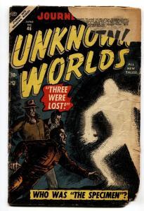 JOURNEY INTO UNKNOWN WORLDS #46 comic book 1956-ATLAS-SCI-FI-UFOs-Aliens