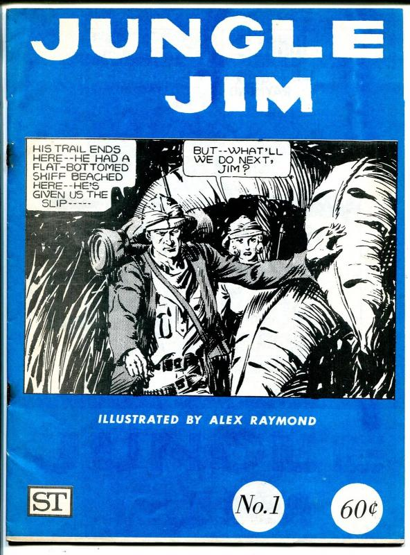 Jungle Jim #1 1972-Secret Enterprises-1st issue-Alex Raymond-FN