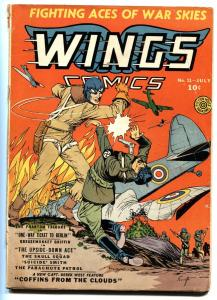 Wings #11 1941-Fiction House-pre WWII-aviation-Phantom Falcons-Parachute Patrol
