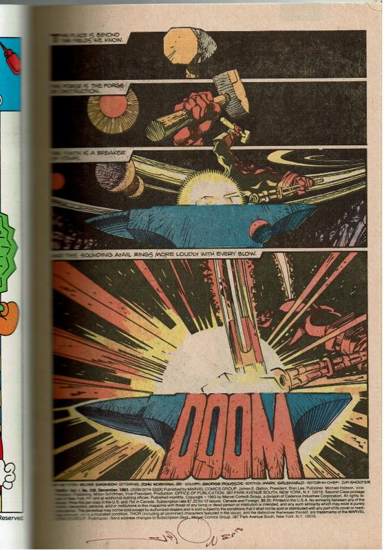 Thor #338, 9.0+, Signed by Walt Simonson, 2nd Beta Ray Bill