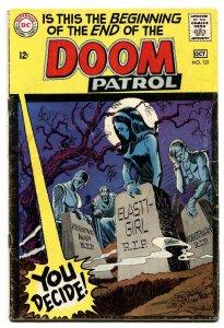 DOOM PATROL #121-1968-DC-DEATH OF DOOM PATROL-FINAL ISSUE vg