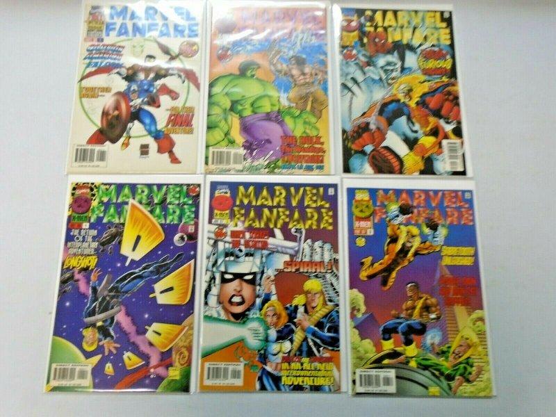 Marvel Fanfare (2nd Series) Set #1-6 8.0 VF (1996)