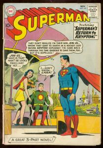 Superman #141 1961-DC Comics-JOR-EL covert origin retold G-