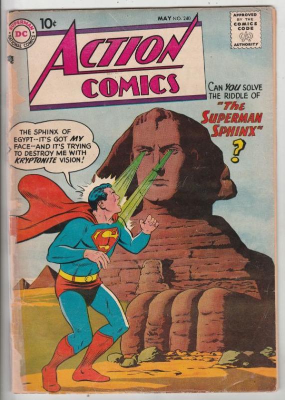 Action Comics #240 (May-58) VG+ Affordable-Grade Superman