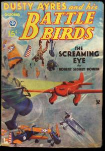 DUSTY AYRES AND HIS BATTLE BIRDS 1934 OCT BI-PLANE S. F G/VG