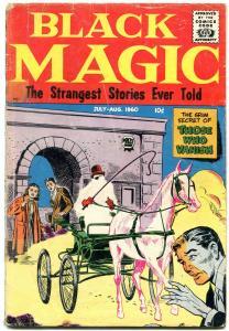 BLACK MAGIC Vol 7 #3 1960-STRANGE STORIES-PRIZE COMICS VG
