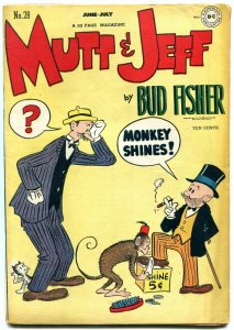 Mutt and Jeff #28 1947-Monkey Shines- DC Golden Age- Bud Fisher FN+