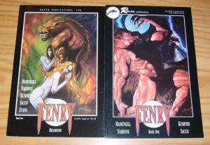 Fenry #1-2 VF/NM complete series - tony harris - werewolf - raven comics set