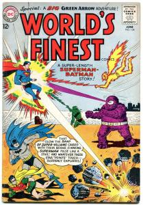 WORLDS FINEST #134 1963-WILD COVER-BATMAN-SUPERMAN VG