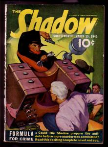 SHADOW PULP MAG 1942 MAR 15-STREET & SMITH HIGH GRADE FN/VF