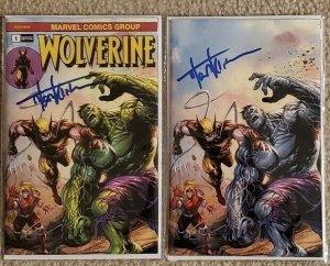Wolverine 1 SIGNED BY Tyler Kirkham Incredible Hulk 181 Homage Virgin with COA